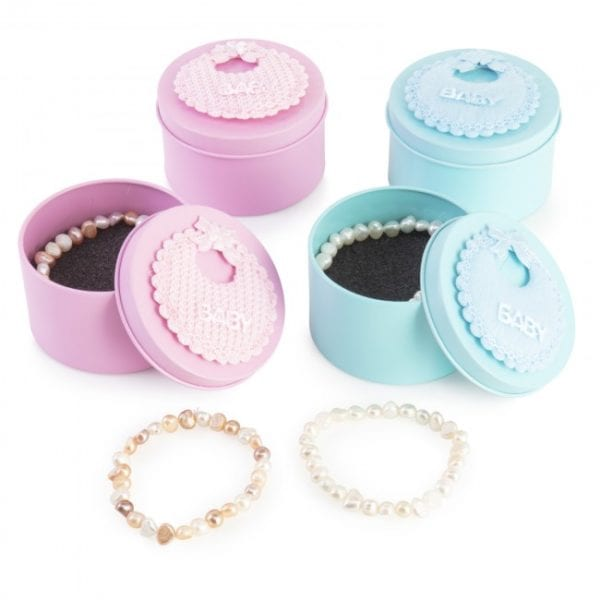 pulsera natural caja rosa
