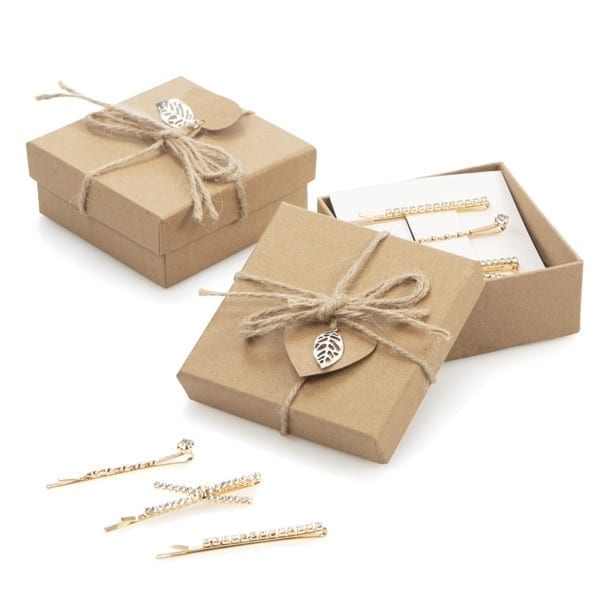 236 Caja regalo con pasadores de pelo brillantes